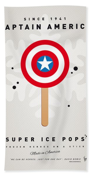 My Superhero Ice Pop - Captain America Bath Towel
