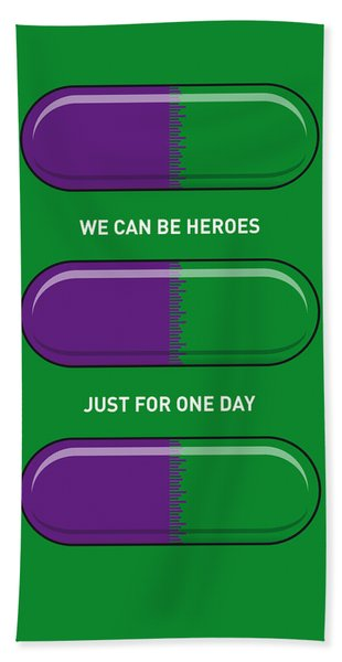 My Superhero Pills - The Hulk Bath Towel