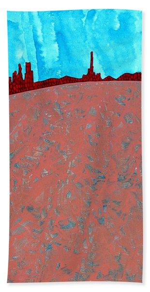 Needles And Dunes Original Painting Bath Towel