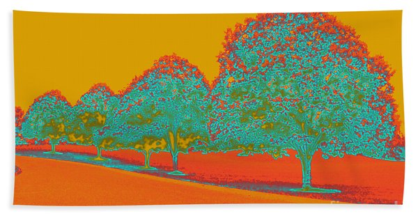 Neon Trees In The Fall Hand Towel