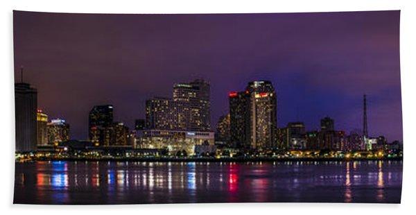New Orleans Skyline Bath Towel