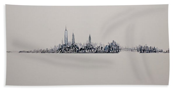 New York City 2013 Skyline 20x60 Hand Towel