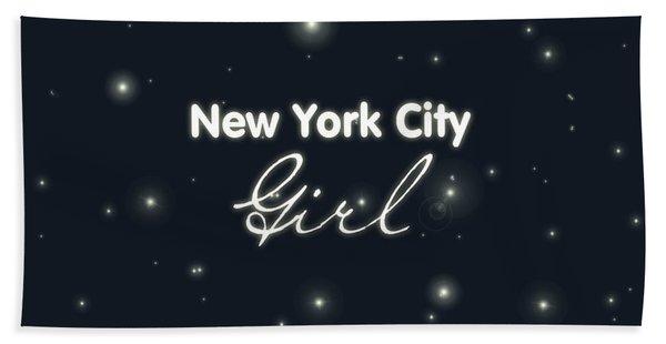 New York City Girl Bath Towel