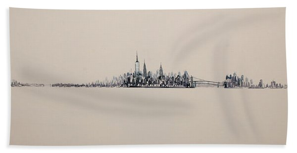 New York City Skyline 15x45 2013 Hand Towel