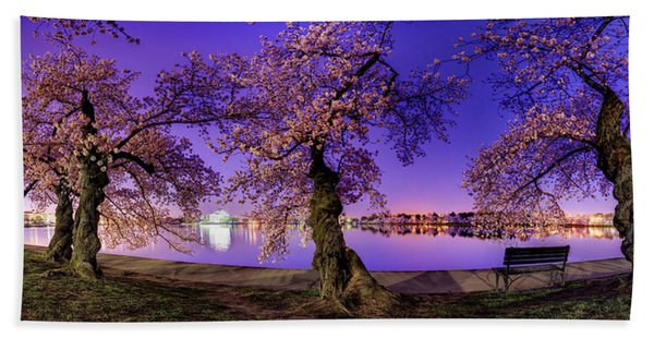 Night Blossoms 2014 Bath Towel