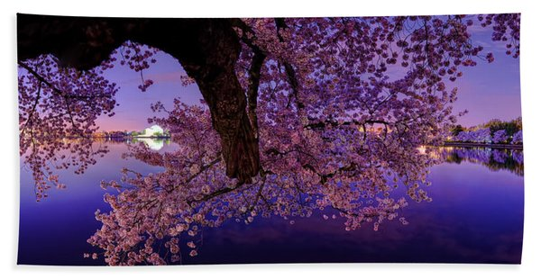 Night Blossoms Bath Towel
