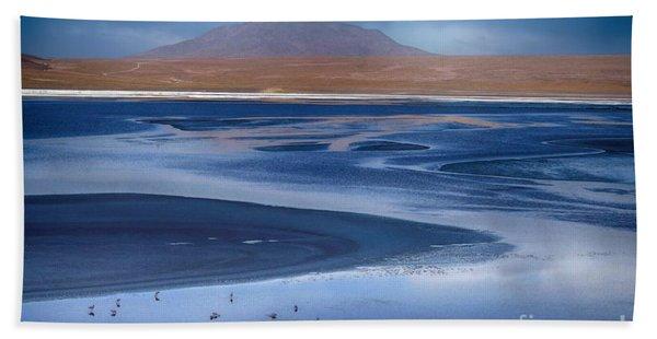 Laguna Colorada - Night Blue Hand Towel