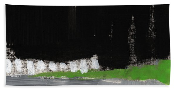 Night Horizon- Abstract Landscapeart Bath Towel