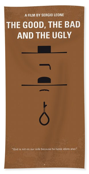 No090 My The Good The Bad The Ugly Minimal Movie Poster Bath Towel
