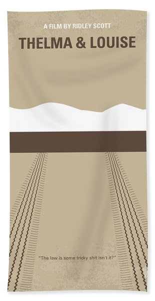 No189 My Thelma And Louise Minimal Movie Poster Bath Towel