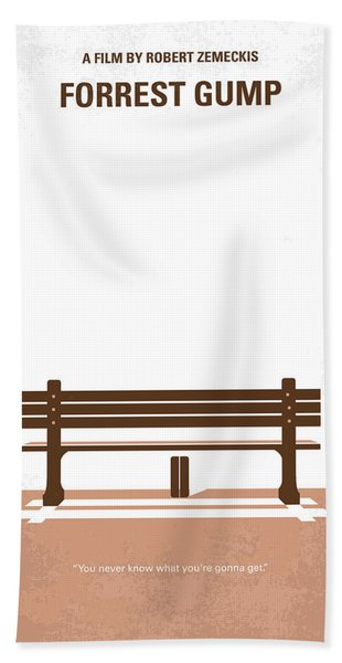 No193 My Forrest Gump Minimal Movie Poster Bath Towel