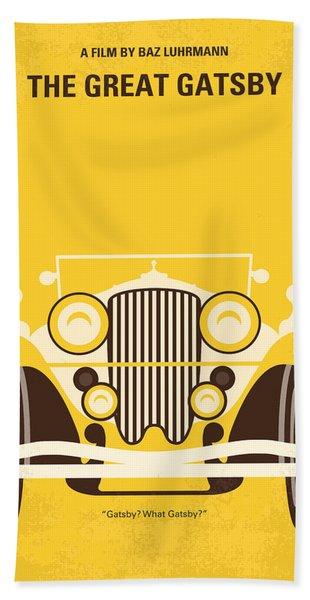 No206 My The Great Gatsby Minimal Movie Poster Bath Towel