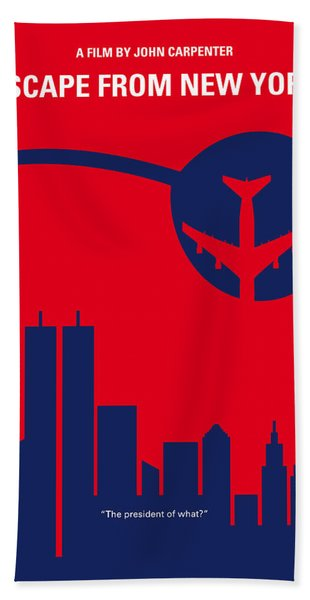 No219 My Escape From New York Minimal Movie Poster Bath Towel