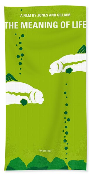 No226 My The Meaning Of Life Minimal Movie Poster Hand Towel