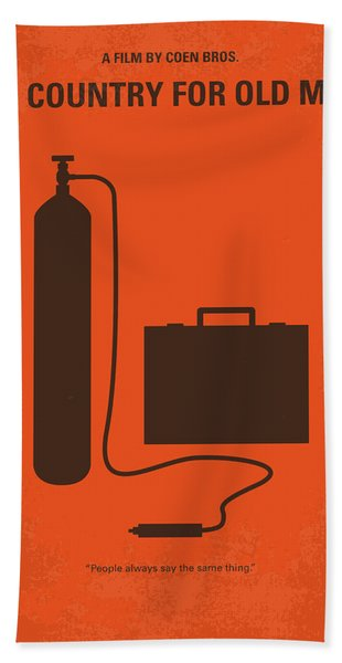 No253 My No Country For Old Men Minimal Movie Poster Bath Towel