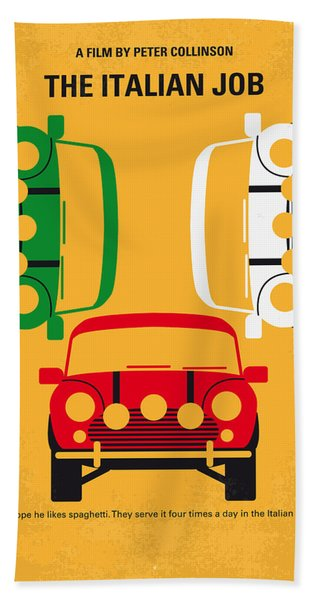 No279 My The Italian Job Minimal Movie Poster Bath Towel