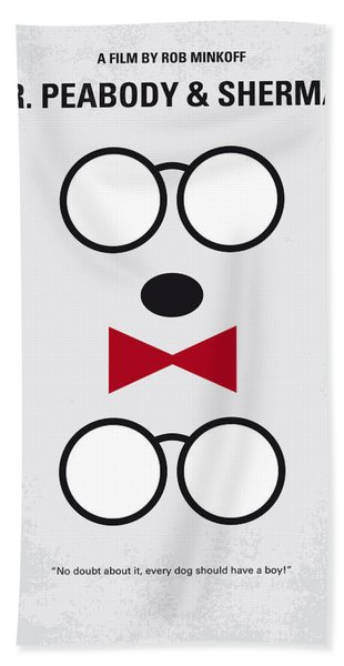 No324 My Mr Peabody Minimal Movie Poster Bath Towel