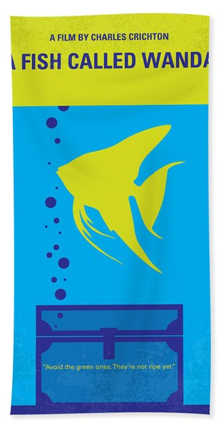 No389 My A Fish Called Wanda Minimal Movie Poster Hand Towel