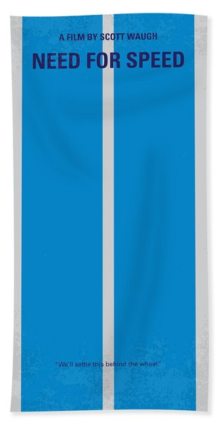 No407 My Need For Speed Minimal Movie Poster Bath Towel