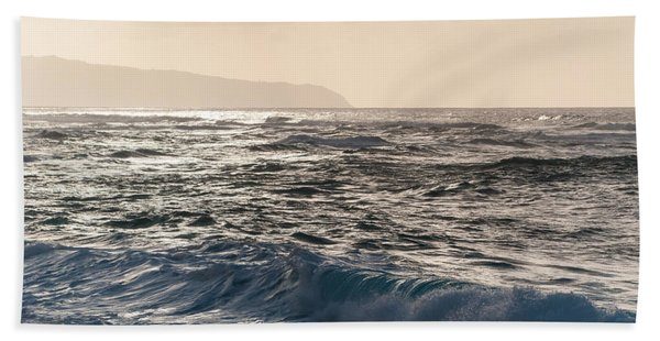 North Shore Waves Bath Towel
