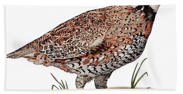 Northern Bobwhite Quail Hand Towel