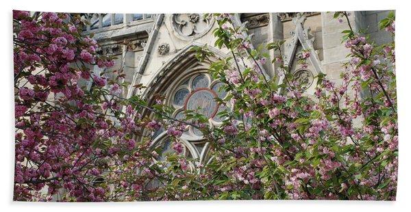 Notre Dame In April Bath Towel