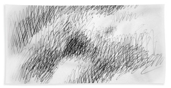 Nude Female Abstract Drawings 1 Bath Towel