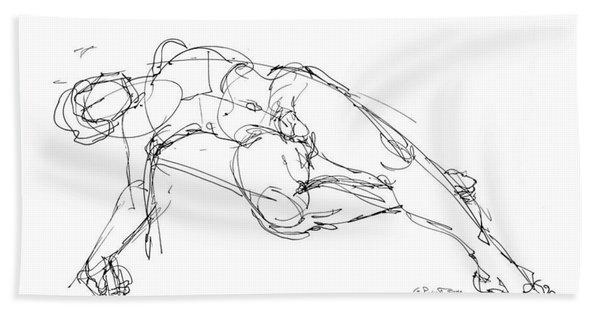 Nude Male Drawings 1 Bath Towel