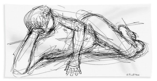 Nude Male Sketches 5 Bath Towel