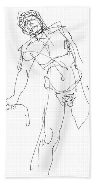 Nude_male_drawing_30 Bath Towel