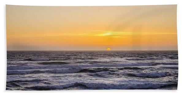 Ocean Beach Sunset Hand Towel