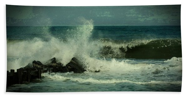 Ocean Impact - Jersey Shore Bath Towel