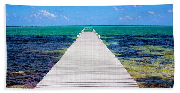 Ocean Walkway Hand Towel