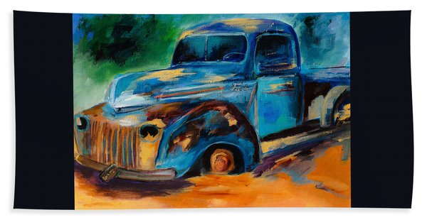 Old Ford In The Back Of The Field Bath Towel