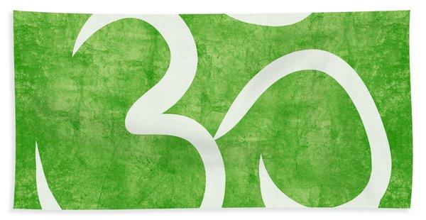 Om Green Bath Towel