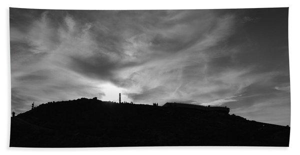 Ominous Sky Over Mt. Washington Bath Towel