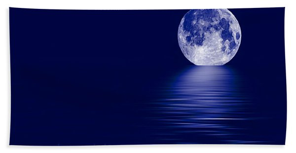 Once In A Blue Moon Bath Towel