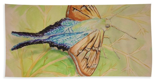 One Day In A Long-tailed Skipper Moth's Life Bath Towel