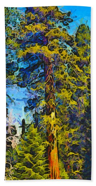One Giant Abstract Sequoia Bath Towel