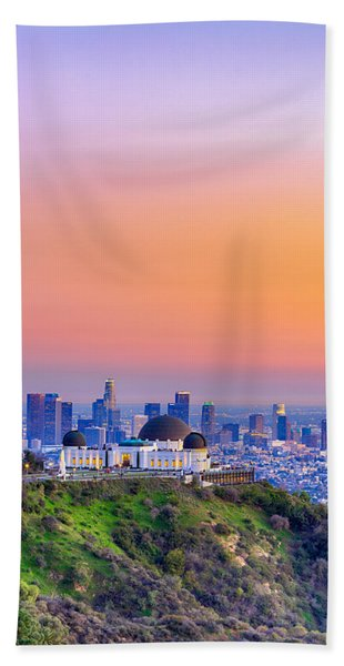 Orangesicle Griffith Observatory Bath Towel