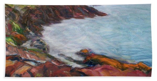 Painterly - Bold Seascape Hand Towel