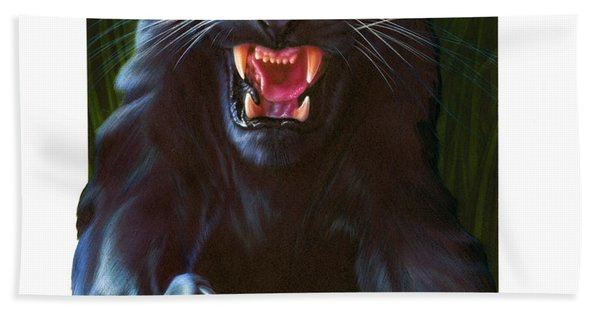 Panther Attack Hand Towel