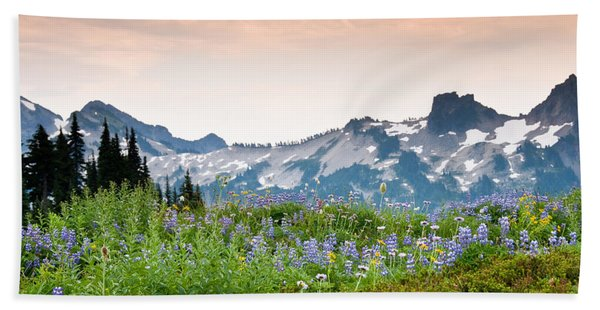 Paradise Meadows And The Tatoosh Range Hand Towel