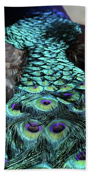 Peacock Trail Bath Towel