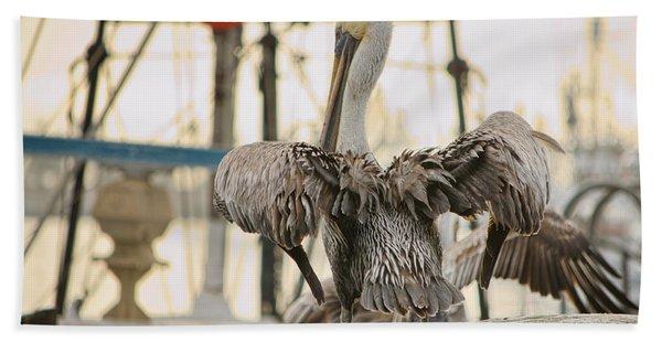 Pelican Strut Hand Towel