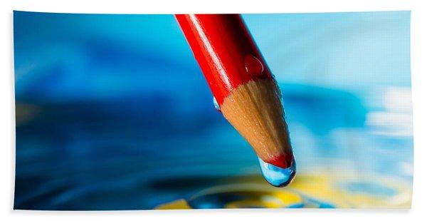 Pencil Water Drop Hand Towel