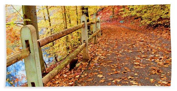 Pennypack Trail Philadelphia Fall Bath Towel