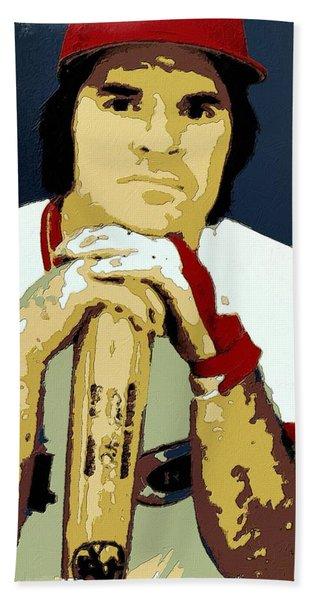 Pete Rose Poster Art Hand Towel