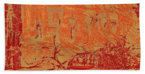 Pictographs Bath Towel
