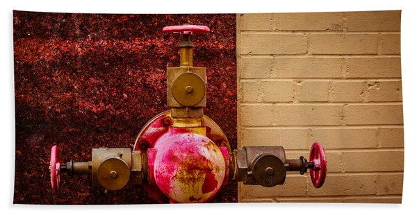 Pink And Rusted Bath Towel